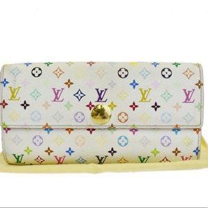 🆕Louis Vuitton Sarah Long Bifold Wallet Purse